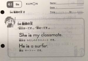 公文式 英語 GⅠ 文法